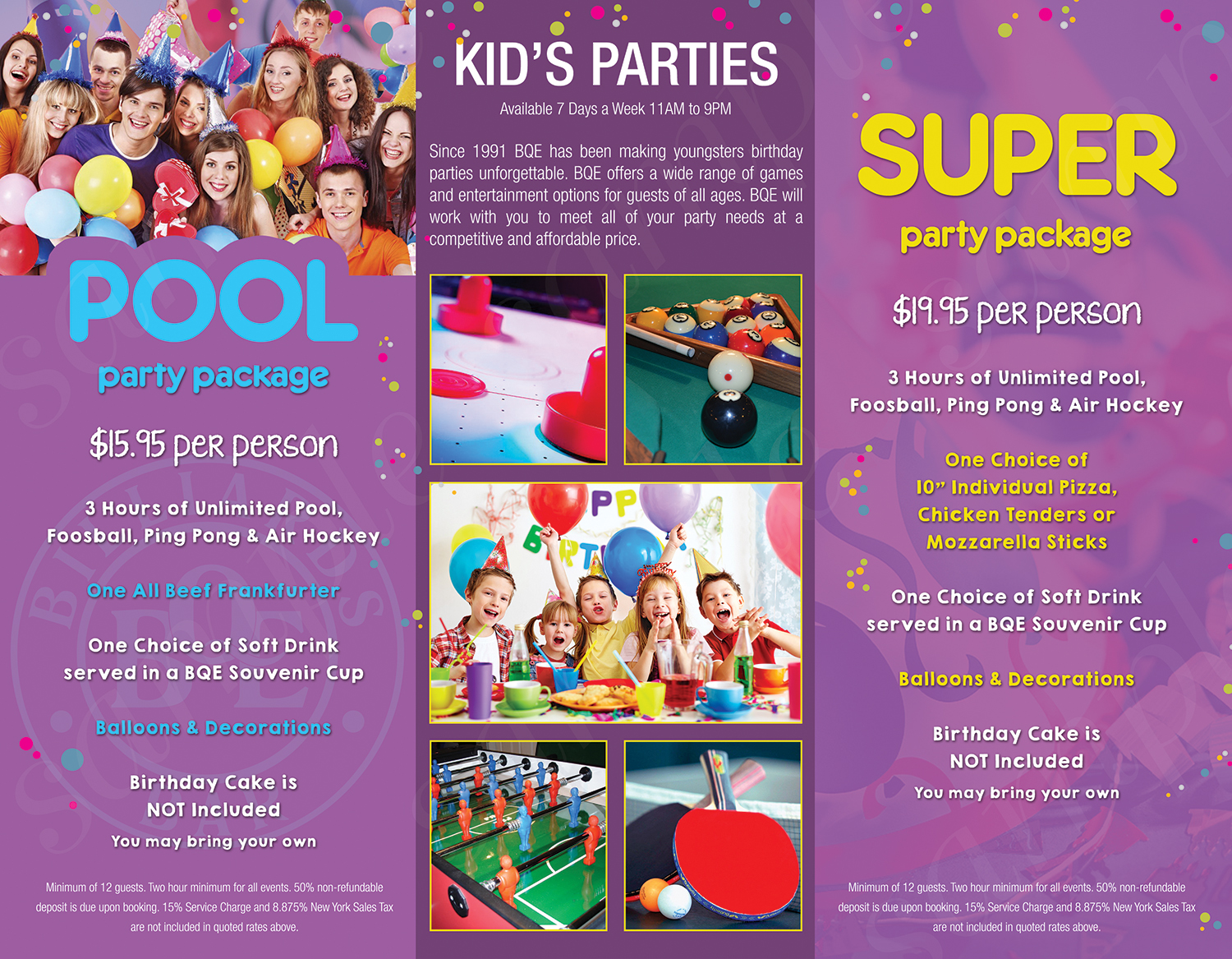 8.5x11 kids party inside - 3